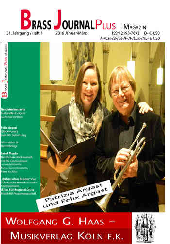 Brass Journal plus; 31. Jahrgang / Heft 1, 2016 Januar-März, ISSN 2193-7893
