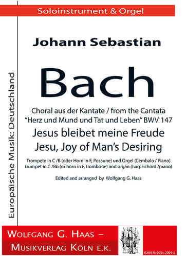 "Johann Sebastian Bach (1685 – 1750) Choral from BWV 147 ""Jesu, Joy of Man's Desiring"""