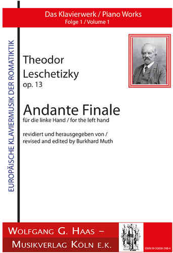 Leschetizky, Theodor 1830-1915 Andante Finale op. 13 for the left hand, Vol.1