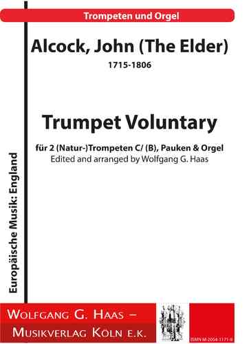 Alcock, John (The Elder) 1715-1806 -Trumpet Voluntary 2 (Nat-)Trompeten C/B, Pauken & Orgel