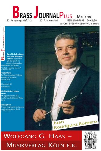Brass Journal plus; 32. Jahrgang / Heft 1_2, 2017 Januar-Juni, ISSN 2193-7893