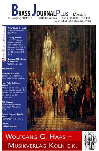 Brass Journal plus; 34. Jahrgang / Heft 1_2, 2019 Januar-Juni, ISSN 2193-7893 PAPER